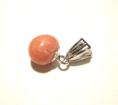 1.35 carat Conch Pearl Light Brownish Pink on Sterling Silver