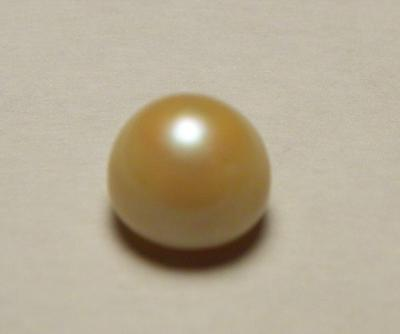 1.5 carat Freshwater USA Pearl  Gem Button Shape