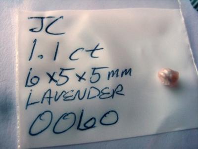 1.1 carat natural lavender pearl