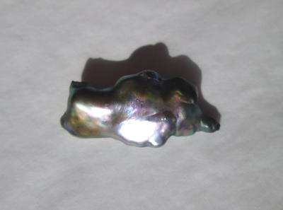 10 carat Abalone Pearl 25mm Bluish Iridescence