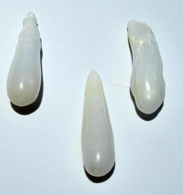 14+ Carats Long Drop Clam Pearl Set of Three for Sale