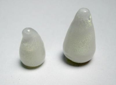 2 Clam Pearl Cone Shape Full Flame 9+ carats Total