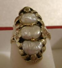 Antique natural pearls