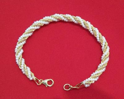 Natural Basra Pearls + Diamonds