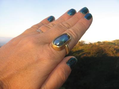 25mm Abalone Pearl Ring