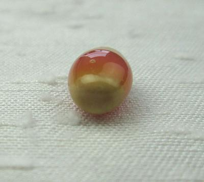 3 carat Pink and Green Conch Pearl 10mm