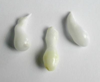 3 Clam Pearls Baroque Drops 29+ carats 22+mm