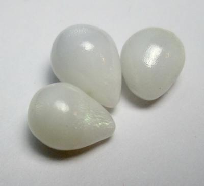 3 Clam Pearls in Drop Shape Set Full Flame on All