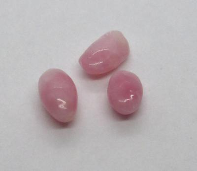 3 Pastel Pink Conch Pearls +1 carat Total