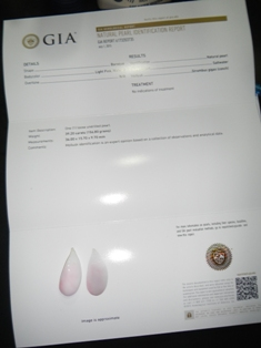 39 Carats Baroque Puerto Rico Pink Conch Pearl - Certificate