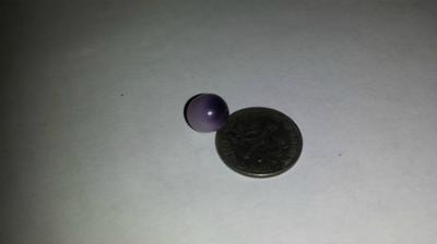 4.57cts Natural Purple Quahog Pearl