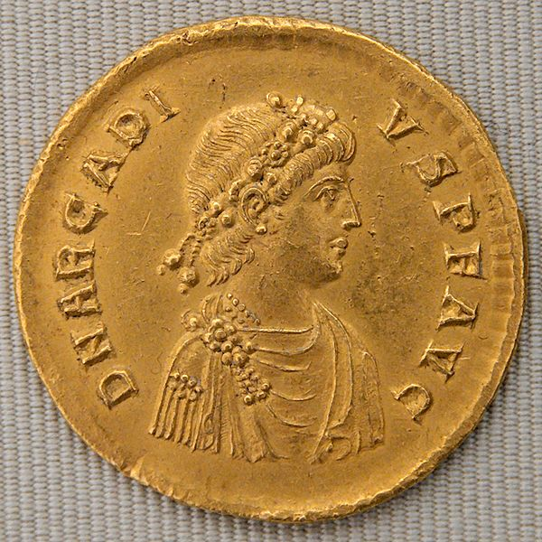 Arcadius gold coin