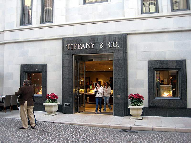 Tiffany & Co Bevery Hills Top Entrance