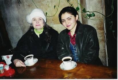 Ayur and Kari at Restaurant in Baku
