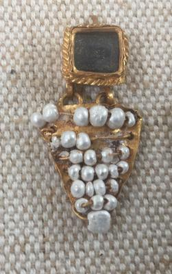 Ancient pearl jewelry at Rockefeller Museum Jerusalem