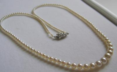 Antique Natural Saltwater Pearl Necklace