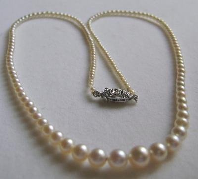 Certified Natural Saltwater Pearl Necklace