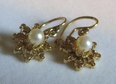 Antique Natural Saltwater Pearl Earrings