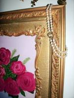 antique pearls and old rose