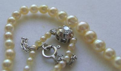 Antique Tiffany Natural Saltwater Pearl Necklace