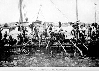 Arab Pearl Divers Persian Gulf