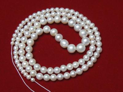 47.94 total carats Natural Pearl Necklace