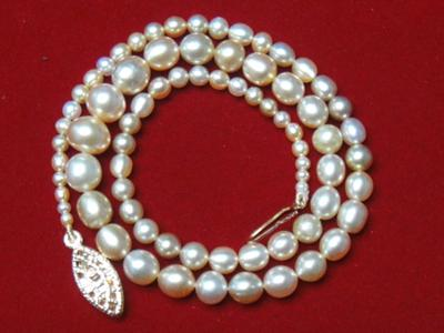 Natural Basra Pearl necklace 57.52 carats