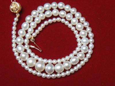 62.24 total carat Basra natural pearl necklace