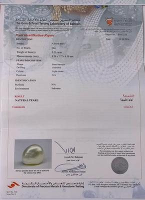 Basra Natural Pearl 3.21 ct