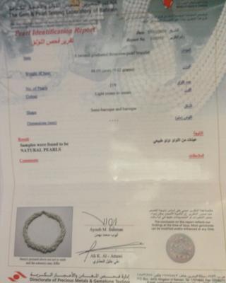 certificate for Basra bracelet