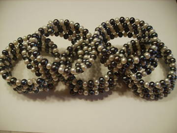 Black and White Pearl Bracelets