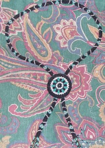 Black Blue White Beaded Necklace