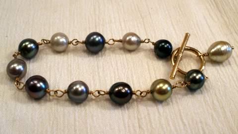 Black Bracelet Pearl Tahitian