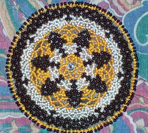 Black White Yellow Beading