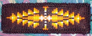 Brown Orange Yellow Beading
