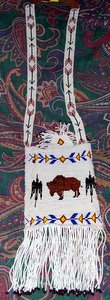Buffalo Beaded Purse
