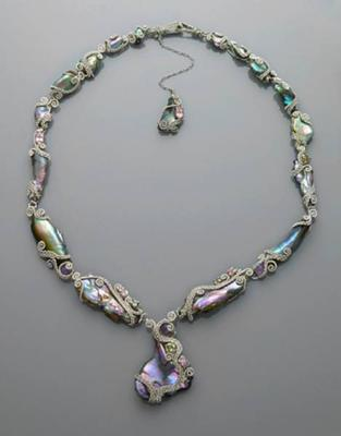 Californian Abalone Pearl & Gem Set Necklace