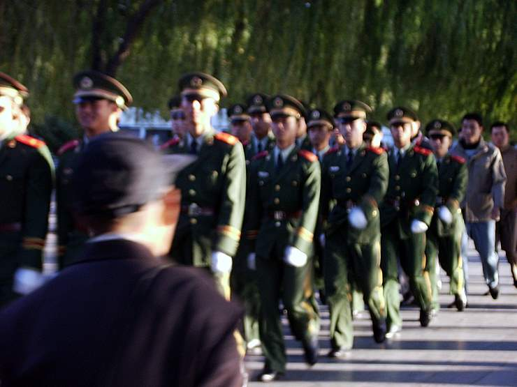 Chinese Soldiers Marching
