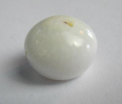 Clam Pearl Button Shape with Flame 11+ carats 10+mm
