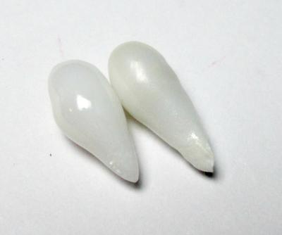 Clam Pearl Pair Drop Shaped Matched Pair 13+mm