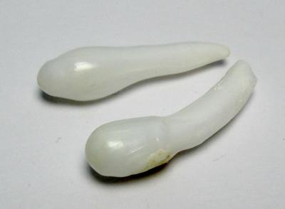Clam Pearl Pair Extra Long Drops 35mm 35carats total