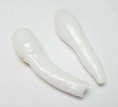Clam Pearl Pair Extra Long Drops 35mm 35carats total
