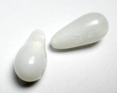Clam Pearl Pair Well Matched Drops 15mm 11+carats