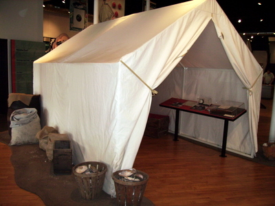 Clamming tent Muscatine pearl button museum