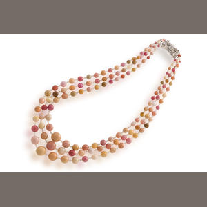 3 Strand Conch Pearl Necklace