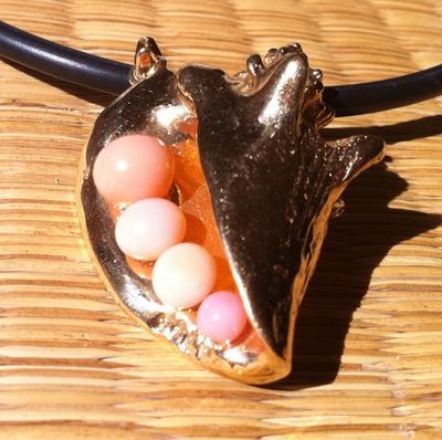 Conch Pearl Pendant