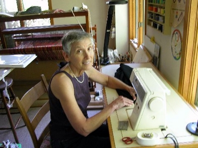 Connie Kuhn and Her Sewing Machine