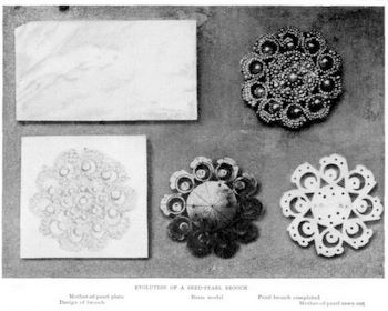 Development of Seed Pearl Brooch