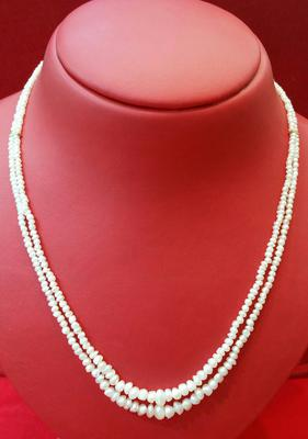 Double Strand Natural Persian Gulf Pearls Necklace
