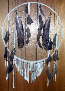 Dreamcatchers with Black Feathers